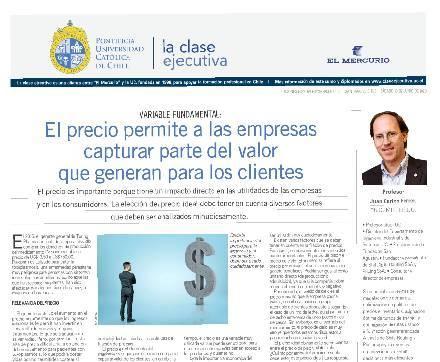 Marketing Operacional, precio, Clase Ejecutiva UC, El Mercurio,
