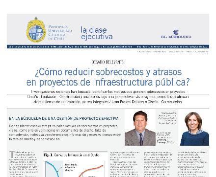 Administración de proyectos 2020 publicada, sobrecostos, proyectos infraestructura pública, curso administración de proyectos de Clase Ejecutiva UC.