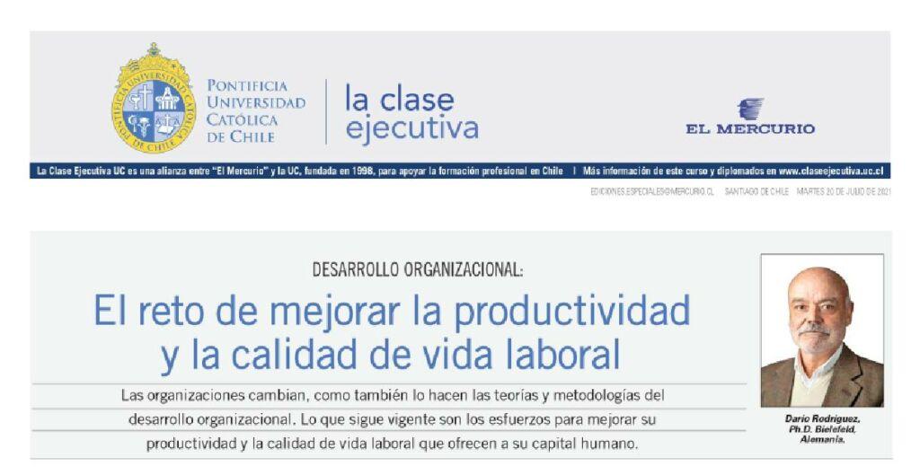 productividad y la calidad de vida laboral
