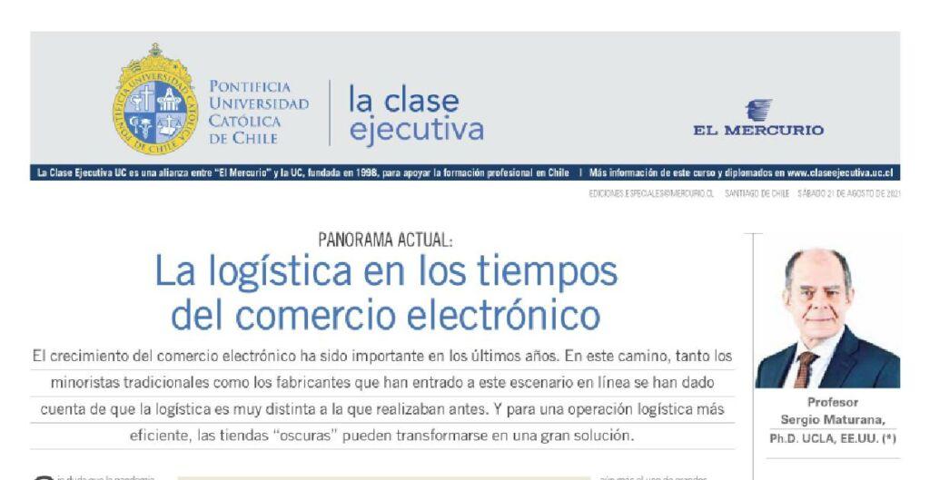 logística, comercio electrónico, Clase Ejecutiva UC, El Mercurio